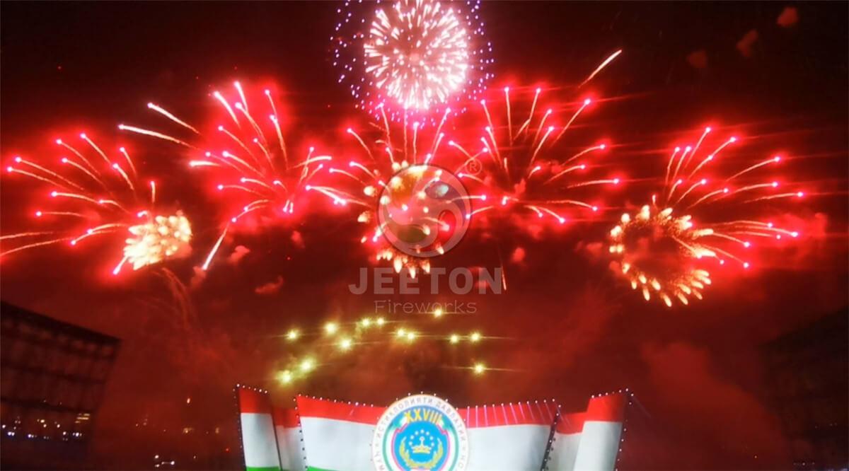 塔吉克斯坦28周年独立日庆典焰火表演