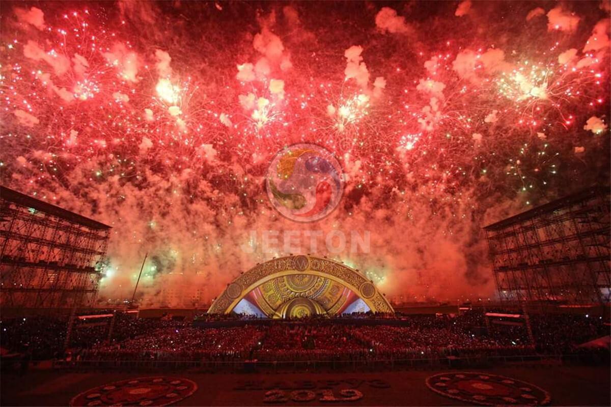 塔吉克斯坦纳乌鲁兹节焰火燃放